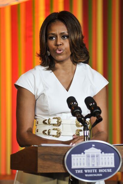 La primera dama de EEUU, Michelle Obama, abrió la Casa Blanca a decenas...