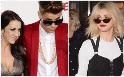Justin Bieber, su mamá Pattie Mallette y Selena Gomez