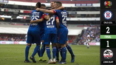 Cruz Azul se irá a la Fecha FIFA como líder tras vencer 2-1 a Lobos Buap
