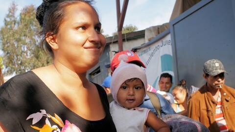 La mayoría de los migrantes que viajan en la caravana de centroamericano...