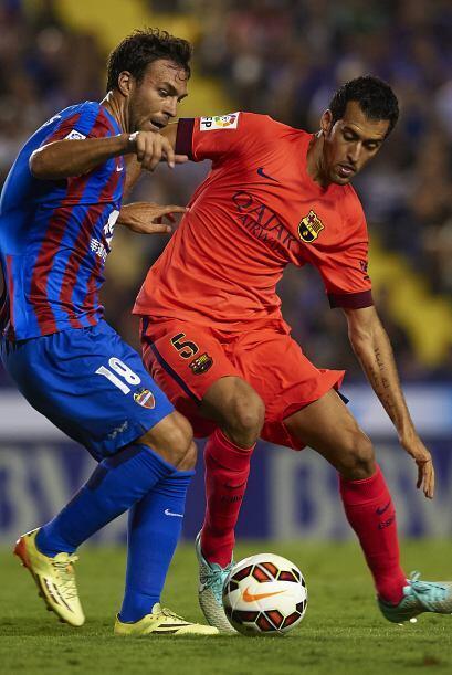 Tras el gol de Neymar, el Barcelona generaba peligro pero no concretaba.