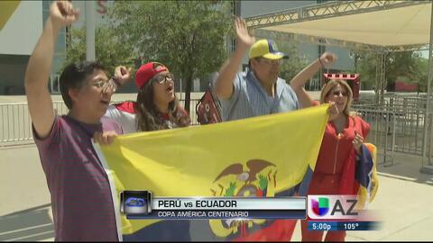 Fans ya están listos para el partido Perú vs. Ecuador