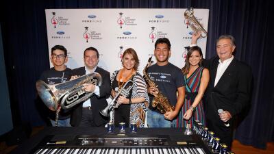 Olga Tañón da una lección de vida a estudiantes de Miami en un acto de la Fundación Cultural Latin GRAMMY