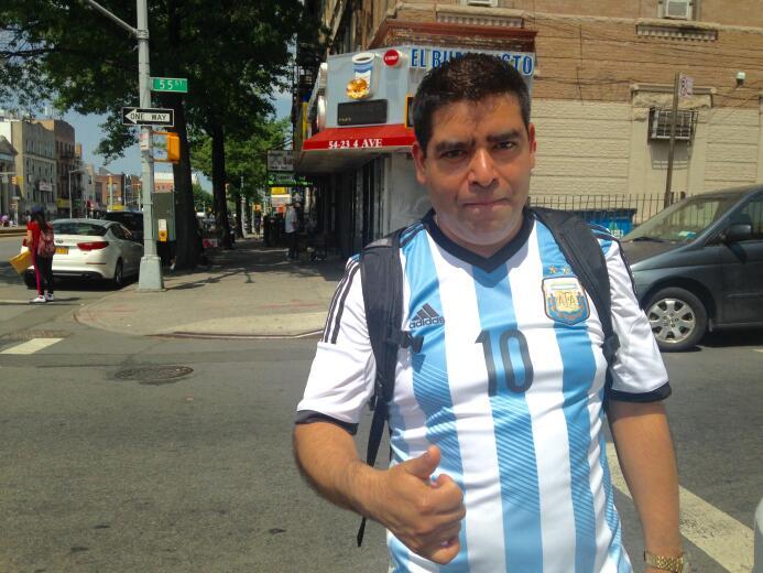"""Lucas: """"Los argentinos serán los ganadores.... Su defensa es más fuerte""""."""