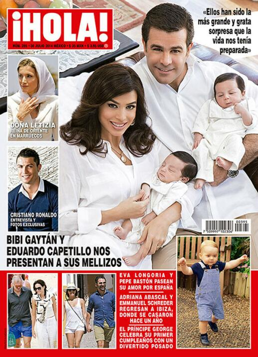 La pareja posó en portada de la revista Hola México, en julio de 2014, p...