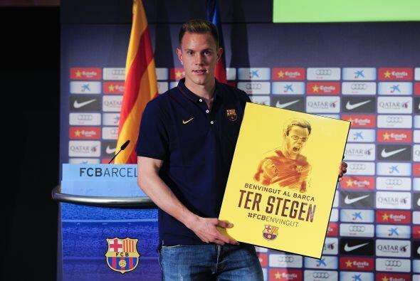 Ter Stegen fue presentado con el Barcelona