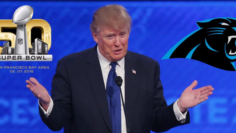 Donald Trump apoya a las Panteras de Carolina