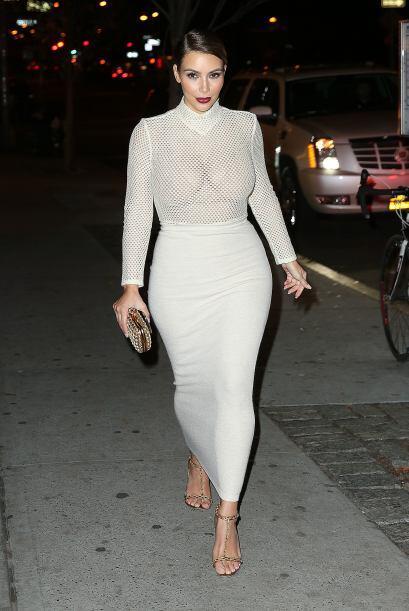 Otra que no le tuvo miedo al frío fue Kim Kardashian, pues vean c...