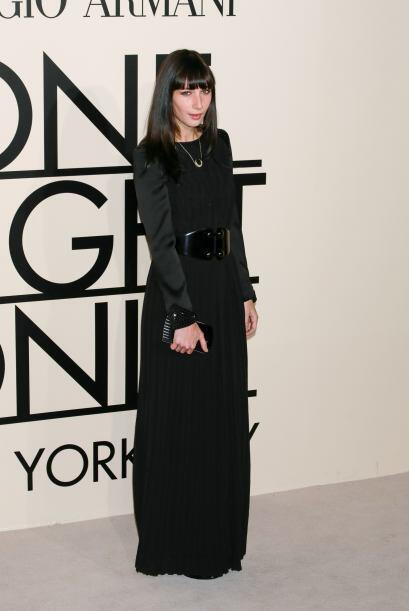 Rebecca Dayan fue una de las más serias gracias a la larga falda, con la...