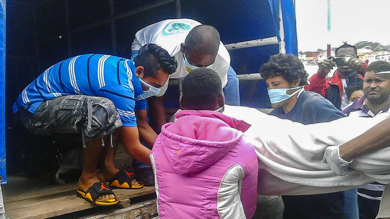 Rescate cuerpos naufragio Nicaragua
