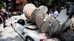 Una escena de los destrozos en Ciudad de México.