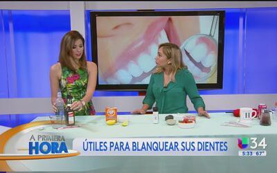 ¿Cómo blanquear nuestros dientes de forma natural?