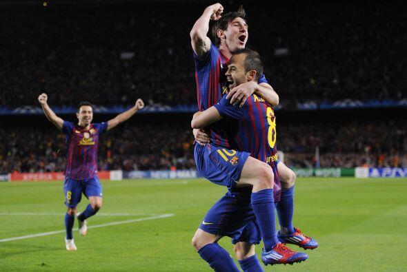 Barcelona festejaba en el Camp Nou ante su gente.