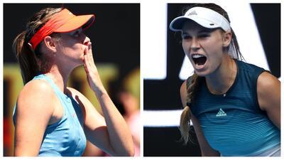Sharapova será rival de Wozniacki en el Abierto de Australia