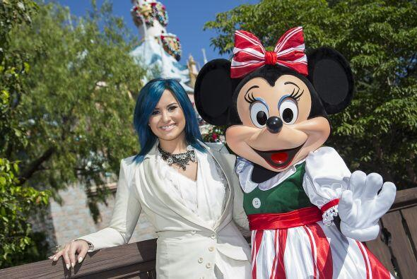 Demi Lovato fue a Disney a grabar un programa y por supuesto, aprovechó...