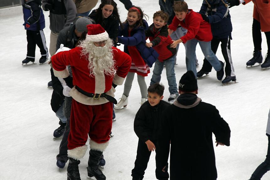Patinaje con Santa