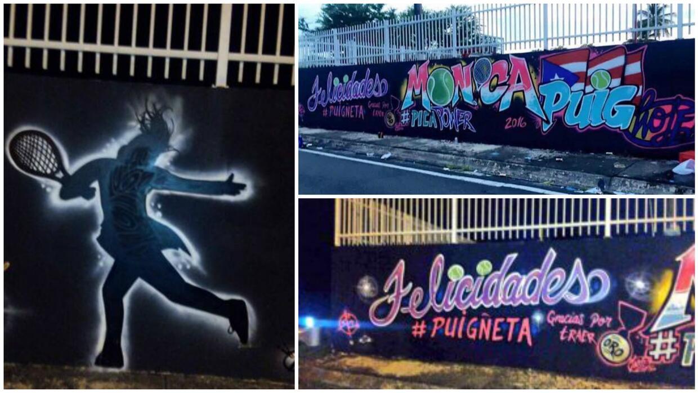 Mural en honor a Mónica Puig