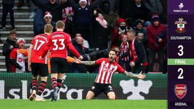 ¡Matagigantes! Southampton termina con la racha invicta del Arsenal