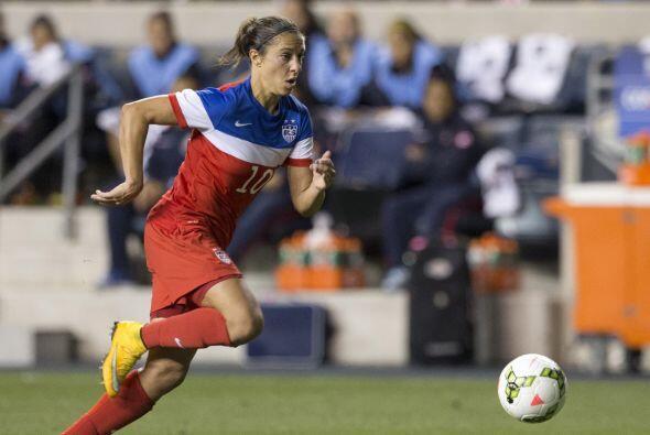 CARLI LLOYD (USA) | Está entre las 10 jugadoras con más participaciones...
