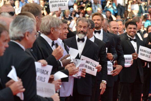 """Le siguieron el reparto al completo de """"The Expendables 3""""."""