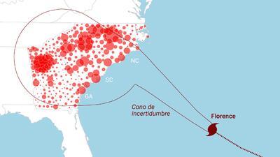 Radiografía de la zona de impacto del huracán Florence