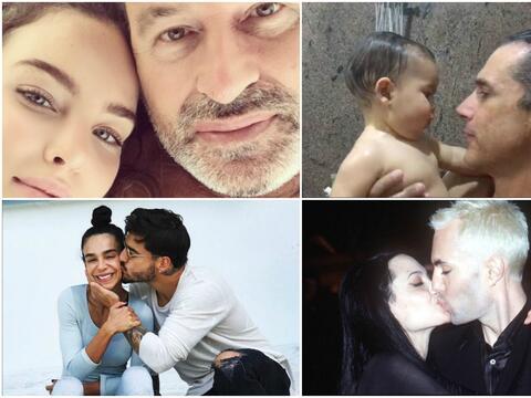 Las extrañas fotos de los famosos con su familia