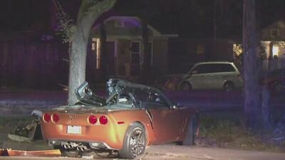 Reportan la muerte de un conductor que se estrelló contra un árbol en Houston