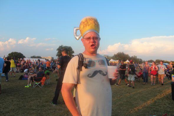 Con tanto calor, la cerveza estuvo en la cabeza de todos, especialmente...