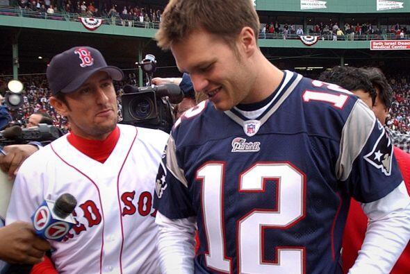 New England Patriots QB Tom Brady   Béisbol draft:  Fue seleccion...