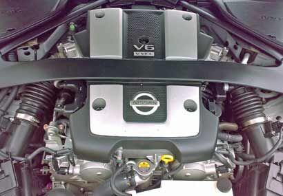 El poder del nuevo 370Z lo brinda el nuevo motor VQ-Series V6 de 3.7 lit...