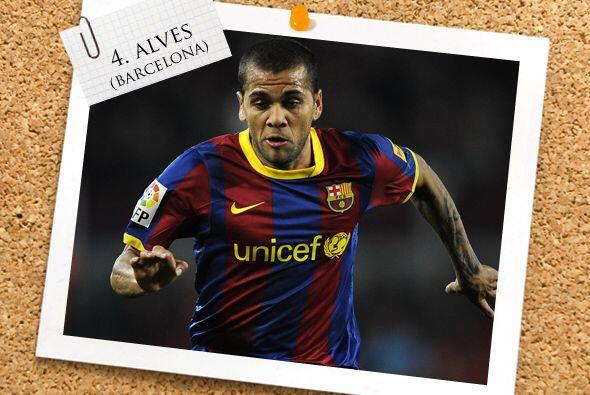 El brasileño Dani Alves no necesitó marcar goles para dar...