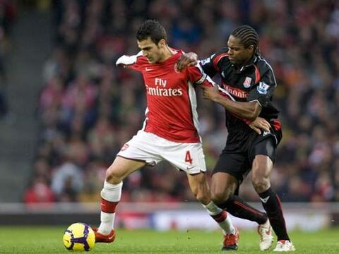 En la 'Premier League' de Inglaterra el Arsenal enfrentó al Stoke...