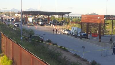 Imágenes de la garita Mariposa que permanece cerrada después del incidente con disparos que involucra a un oficial federal