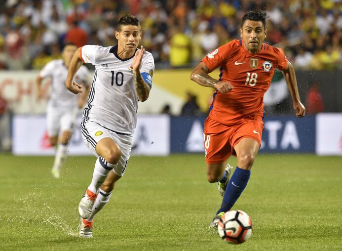 El ranking de los jugadores de Colombia vs Chile GettyImages-542241116.jpg