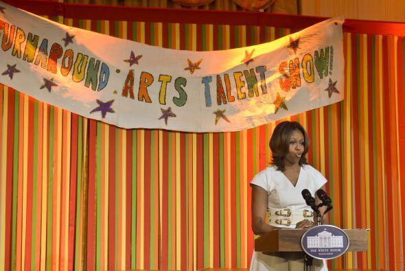 Y demostraron su talento delante de la primera dama.