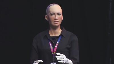 La robot Sophia visitó México y sorprendió a los asistentes en feria de innovación tecnológica