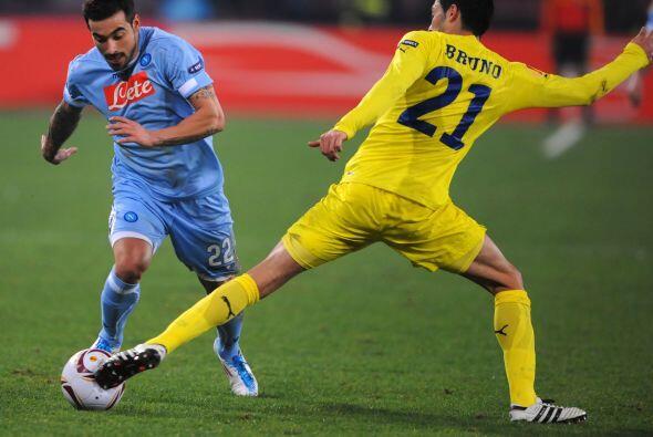 Un duelo del que se esperaba mucho era el Napoli ante Villarreal.