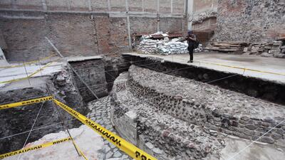 En fotos: Arqueólogos mexicanos encuentran un templo prehispánico dedicado al dios mexica del viento