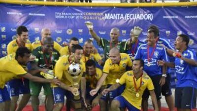 LaSelección de Brasil de Fútbol Playa es la favorita en el Mundial.