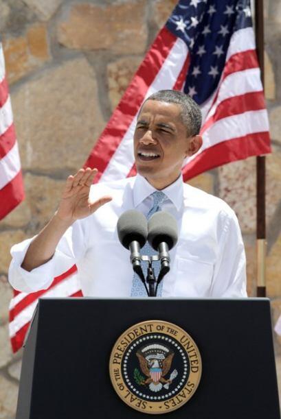 Una de las partes más emotivas del discurso fue cuando el presidente Oba...