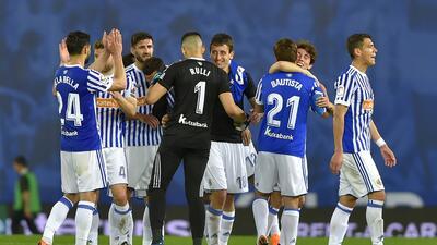 En fotos: Con Héctor Moreno como titular, Real Sociedad venció 3-0 al Atlético de Madrid