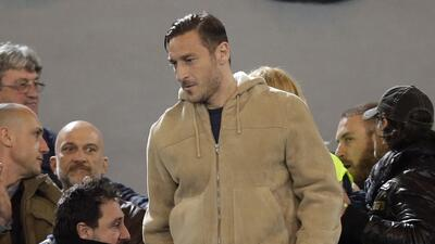 Totti fue separado de la Roma