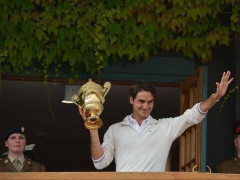 Un día histórico para el suizo Roger Federer.