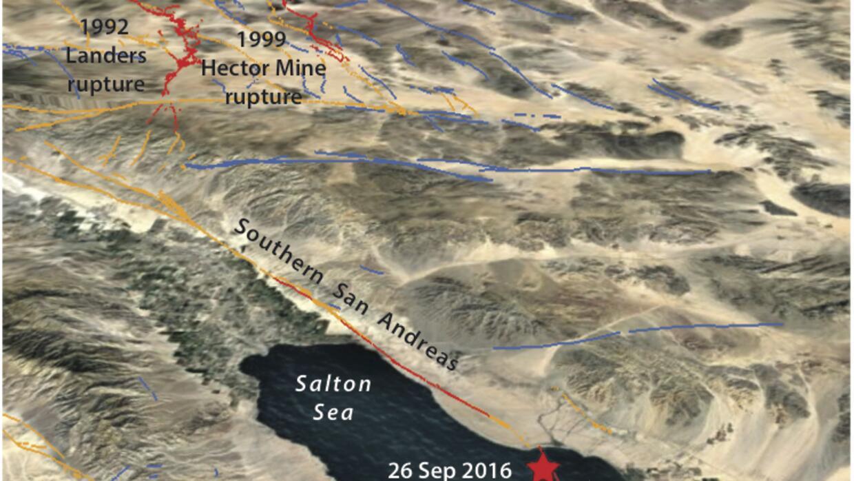 El enjambre de temblores se registra en la falla de Brawley.