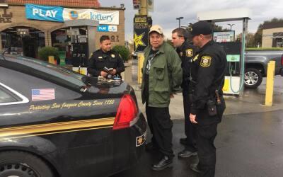 Imagen del arresto de Randall Saito en Sockton, California, tres d&iacut...