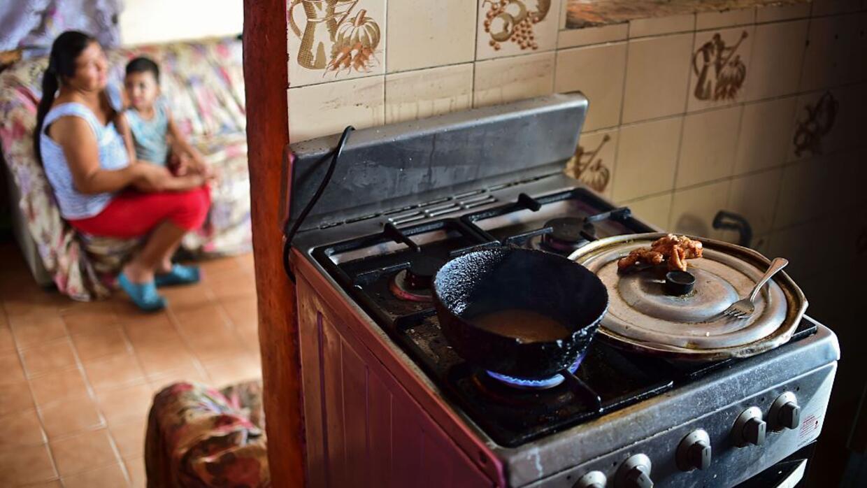 La ración del día en el hogar de Liliana Rojas, en Caracas...