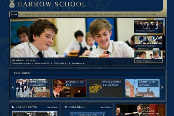 HARROW SCHOOL- Fundado en 1572, este colegio británico está especializad...