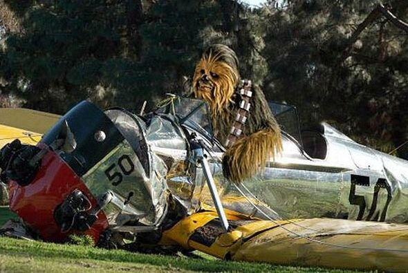 Chewbacca en el accidente.