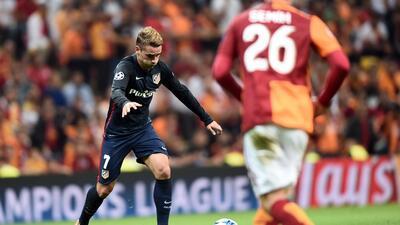 Antoine Griezmann hizo los dos goles del Atlético en Estambul.