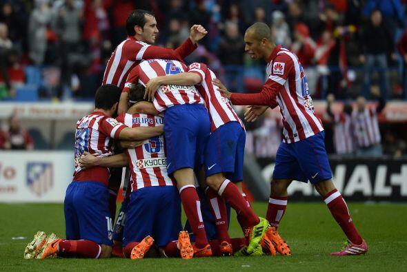 Justo antes de que terminara la primera parte, el capitán del Atlético f...